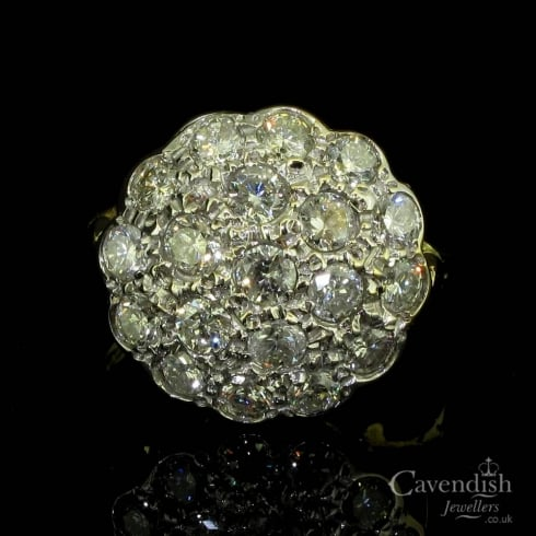 18ct Gold And Diamond Cluster Ring