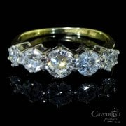 18ct Gold Diamond Diamond Five Stone Ring