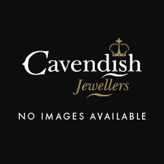 18ct Gold & Pear Cut Diamond Cluster Pendant & Chain