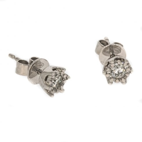 e41d4c628 18ct White Gold And Diamond Cluster Stud Earrings - from Cavendish  Jewellers Ltd UK