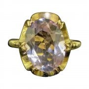 9ct Gold Amethyst Solitaire Ring