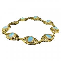 9ct Gold And Cultured Opal Bracelet