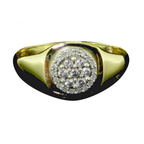 9ct Gold And Diamond Cluster Ring