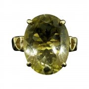 9ct Gold And Oval Citrine Dress Ring