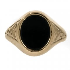 9ct Gold Bloodstone Signet Ring