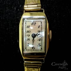 9ct Gold Ladies Mother of Pearl Watch