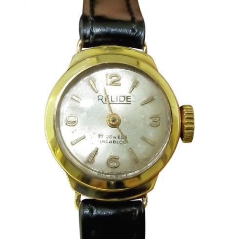 9ct Gold Ladies Relide Watch