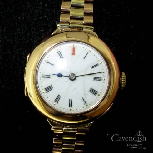 9ct Gold Ladies Watch