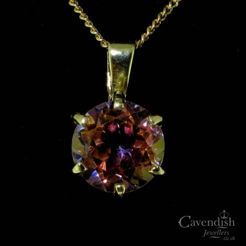 9ct Gold Orange Mystic Topaz Pendant