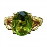 9ct Gold Peridot Solitaire Ring
