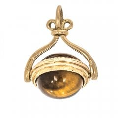 9ct Tigers Eye Spinner Fob