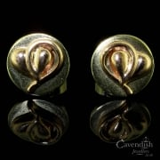 9ct Yellow And Rose Gold Clogau Stud Earrings