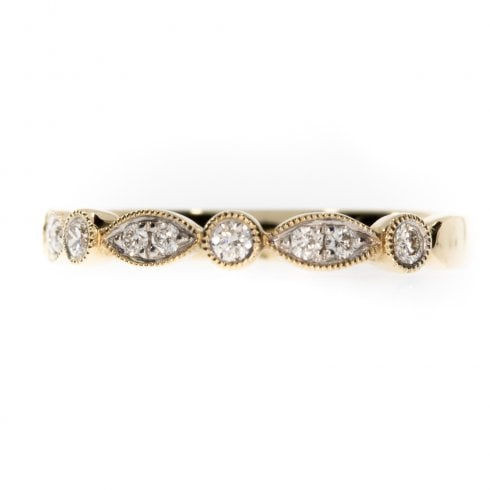 9ct Yellow Gold Diamond Half Eternity Ring