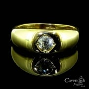 Amazing Edwardian 18ct Gold And Old Cut Diamond Ring