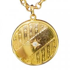 Antique 15ct Gold and Old Cut Diamond Locket