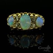 Antique 18ct Gold Opal and Diamond Ring