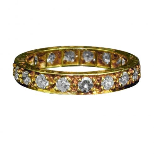Antique Art Deco 18ct Gold Diamond Eternity Ring