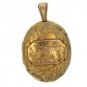Antique Victorian Gold Engraved Large Locket