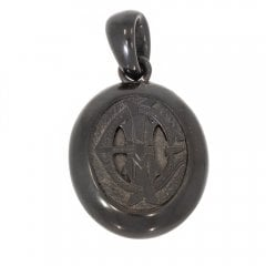 Antique Victorian Whitby Jet Open Back Locket
