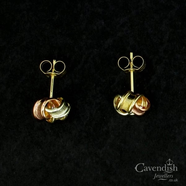 066910d17 Appealing 3 Colour Gold Knot Stud Earrings - from Cavendish ...