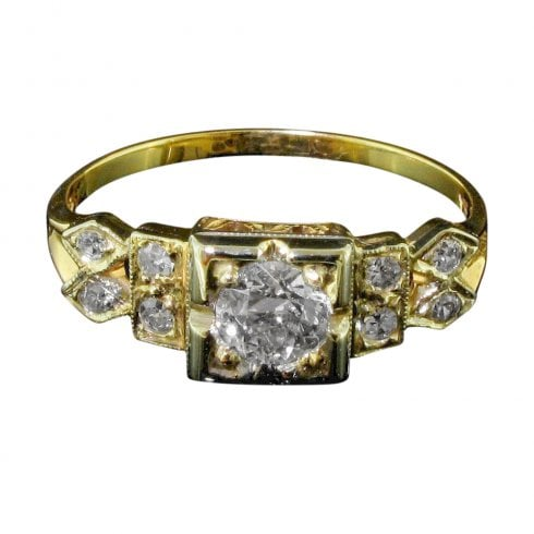 Art Deco Old Cut Diamond Ring