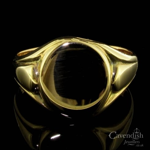 Attractive Vintage 9ct Rose Gold Signet Ring