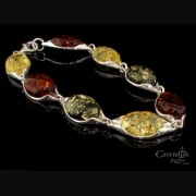 Attractive Yellow, Green & Honey Amber Bracelet