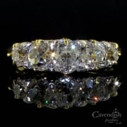Beautiful 18ct gold and old cut diamond 5 stone ring circa 1890