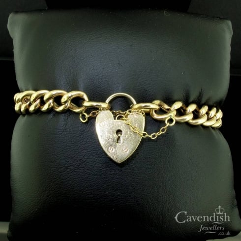 Beautiful 9ct Gold Curb Link Bracelet