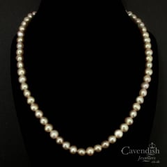 Beautiful Pink Cultured Pearl Necklace