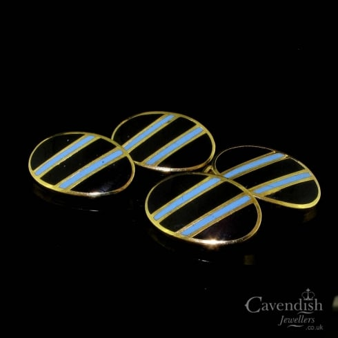 Black & Blue Enamel Cufflinks