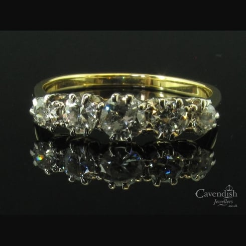 Captivating Gold Diamond 5 Stone Ring