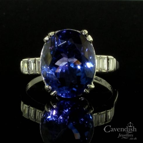 Captivating Tanzanite and Diamond Ring