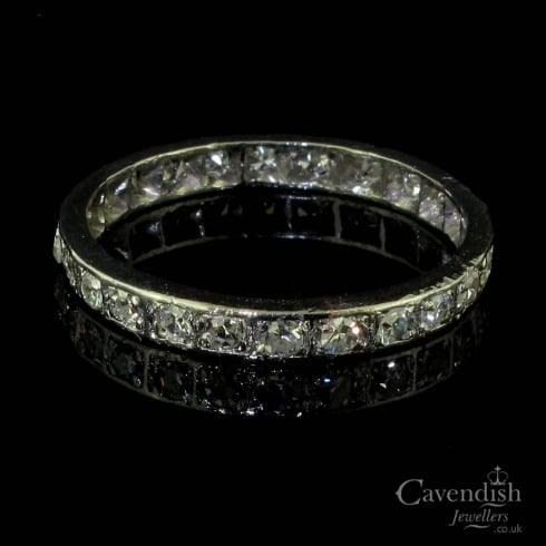 Characterful Platinum And Diamond Full Eternity Ring Circa 1930