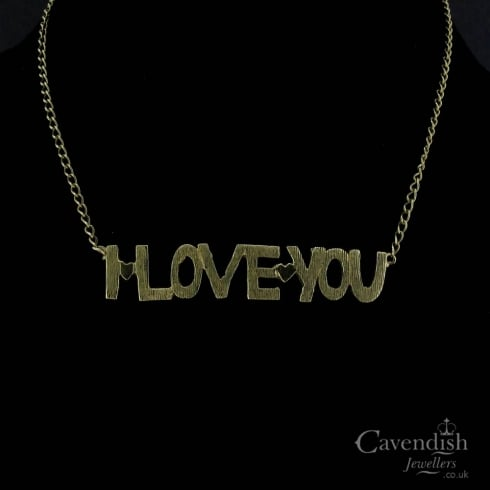 Charming 9ct Gold 'I LOVE YOU' Necklace