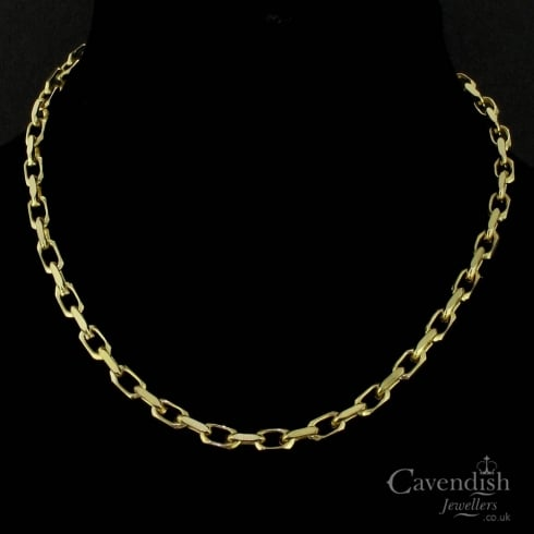 Charming 9ct Gold Solid Belcher Chain
