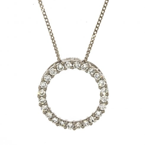 Circle Design Diamond Necklace