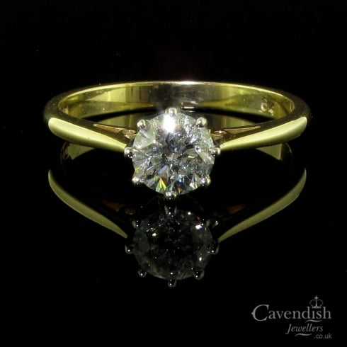 Classic 18ct Gold Diamond Solitaire Ring