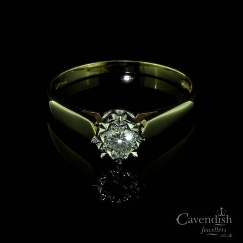 Classic 9ct Gold Diamond Solitaire Ring