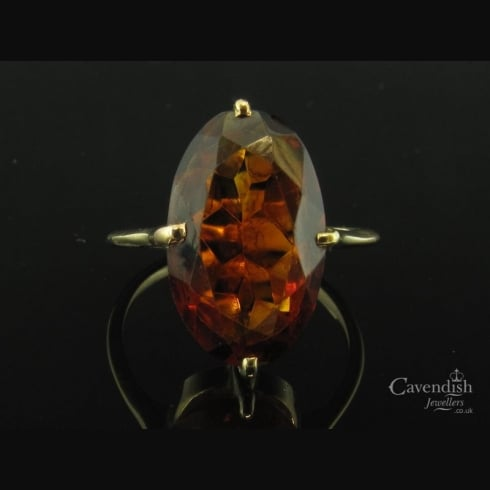 Classic Gold Citrine Ring