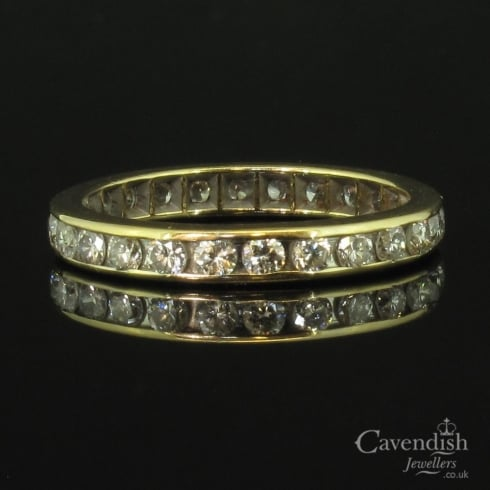 Classic Yellow Gold And Diamond Full Eternity Ring