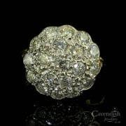 Dazzling 18ct Gold And Diamond Cluster Ring