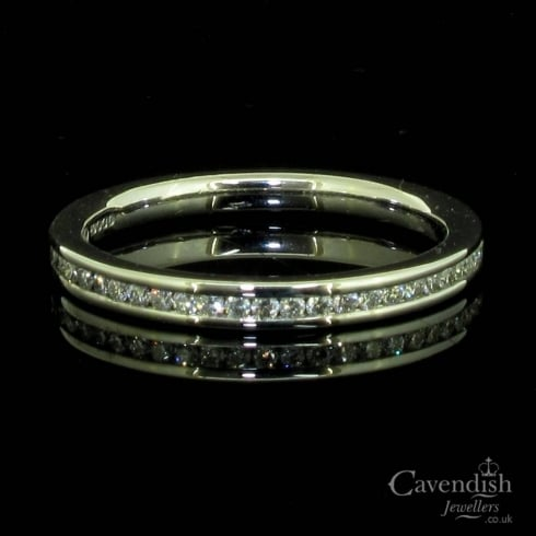 Dazzling 18ct White Gold And Diamond Eternity Band