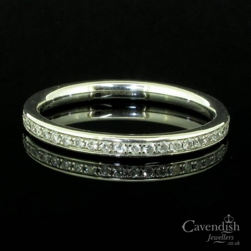 Dazzling 18ct White Gold And Diamond Full Eternity Ring