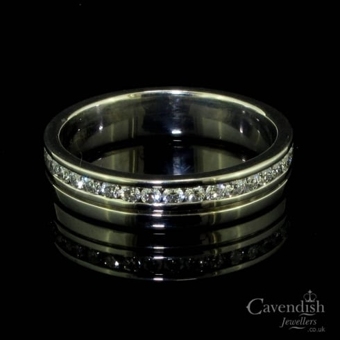 Dazzling 18ct White Gold and Diamond Full Eternity Wedding Ring