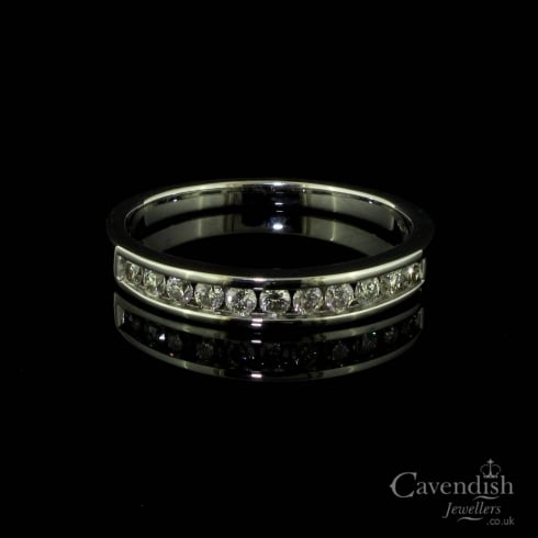 Dazzling 18ct White Gold and Diamond Half Eternity Ring