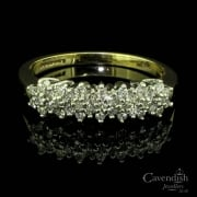 Dazzling 9ct Gold Diamond Half Hoop Ring
