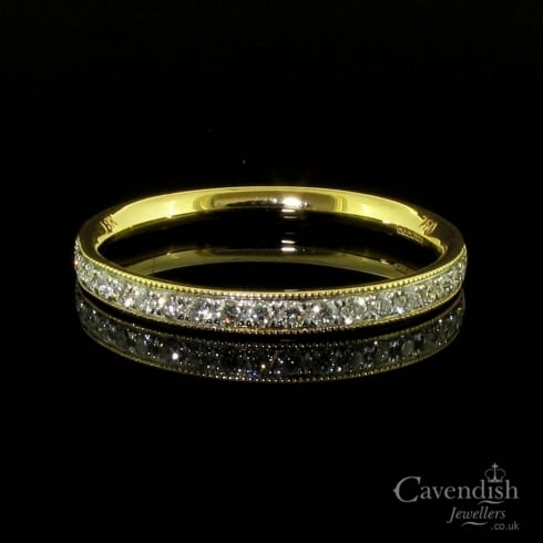 Delicate 18ct Gold Diamond Half Eternity Ring