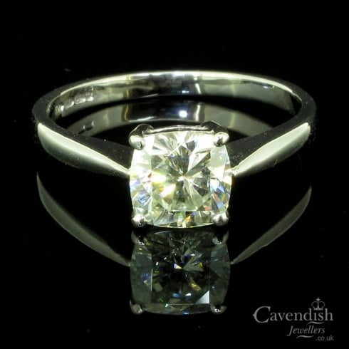 Delightful 18ct White Gold Moissanite Solitaire Ring