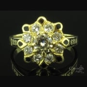 Delightful Diamond Cluster Ring